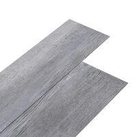 vidaXL PVC-lattialankut 5,02 m² 2 mm itseliimautuva matta puu harmaa