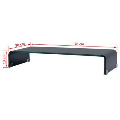 vidaXL TV-taso/Näyttöteline Musta lasi 70x30x13 cm