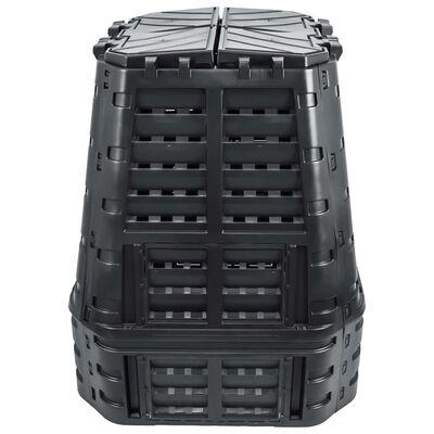 vidaXL Puutarhan kompostiastia musta 93,3x93,3x113 cm 740 l