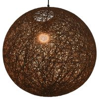 vidaXL Roikkuva lamppu ruskea pallo 55 cm E27