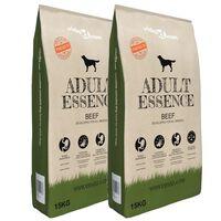 vidaXL Premium koiran kuivaruoka Adult Essence Beef 2 kpl 30 kg