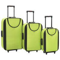 vidaXL Pehmeäpintaiset matkalaukut 3 kpl vihreä Oxford kangas
