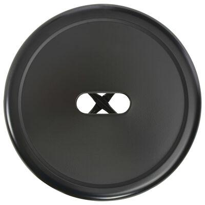 vidaXL Baarijakkarat 2 kpl musta teräs