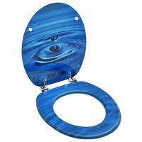 vidaXL WC-istuin kannella MDF sininen vesipisarakuosi