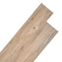 vidaXL PVC-lattialankut 5,26 m² 2 mm Ruskea tammi