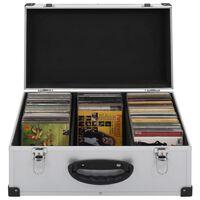 vidaXL CD-kotelo 60 CD-levylle alumiini ABS hopea