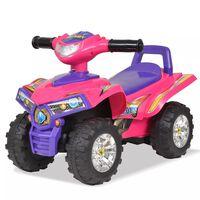 vidaXL Lasten ajettava mönkijä äänillä ja valoilla pinkki ja violetti
