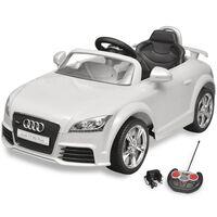 Audi TT RS Istuttava Auto Lapsille Kauko-ohjaimella Valkoinen