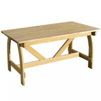 vidaXL Puutarhapöytä 150x74x75 cm kyllästetty mänty
