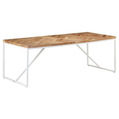 vidaXL Ruokapöytä 200x90x76 cm täysi akaasia- ja mangopuu