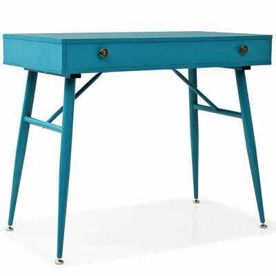 vidaXL Kirjoituspöytä vetolaatikolla 90x50x76,5 cm antiikkinen vihreä