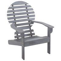 vidaXL Adirondack-tuoli täysi akaasiapuu harmaa