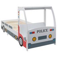 vidaXL Lastensänky pöydällä poliisiauto 90x200 cm
