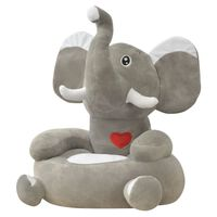 vidaXL Lasten pehmotuoli norsu harmaa