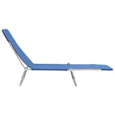 vidaXL Taitettavat aurinkotuolit 2 kpl teräs ja kangas sininen
