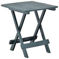 vidaXL Kokoontaittuva puutarhapöytä vihreä 45x43x50 cm muovi