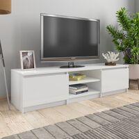 vidaXL TV-taso korkeakiilto valkoinen 140x40x35,5 cm lastulevy