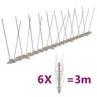 vidaXL 2-Riviset muoviset lintu- & kyyhkyspiikit 6-sarja 3 m