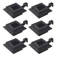 vidaXL Ulkoaurinkokennovalaisin 6 kpl LED neliö 12cm musta