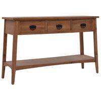 vidaXL Konsolipöytä kiinteä kuusipuu 126x40x77,5 cm ruskea