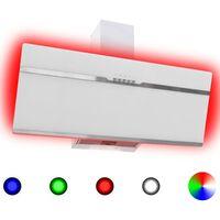 vidaXL Liesituuletin RGB 90 cm ruostumaton teräs ja karkaistu lasi