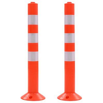 vidaXL Liikenteenohjaustolpat 2 kpl muovi 75 cm