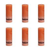 Bolsius Pilarikynttilät 6 kpl rustiikkinen 190x68 mm Oranssi