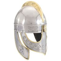 vidaXL Beowulfin kypärä antiikki kopio hopea teräs