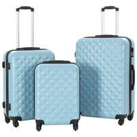 vidaXL Kovapintainen matkalaukkusarja 3 kpl sininen ABS