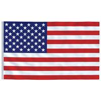 vidaXL Yhdysvaltojen lippu 90x150 cm