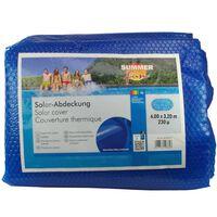 Summer Fun Uima-altaan aurinkosuoja ovaali 600x320 cm PE sininen