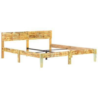 vidaXL Sängynrunko uusiokäytetty puu 160x200 cm