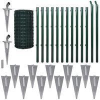 vidaXL Euro-aita teräs 25x1,7 m vihreä