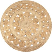 vidaXL Pyöreä matto 120 cm punottu juutti