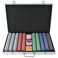 vidaXL Pokerisarja, jossa 1000 Pelimerkkiä Alumiini