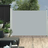 vidaXL Sisäänvedettävä terassin sivumarkiisi 120x500 cm harmaa