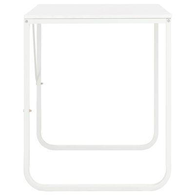 vidaXL Tietokonepöytä valkoinen 120x60x73 cm
