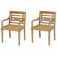 vidaXL Batavia-tuolit 2 kpl tiikki