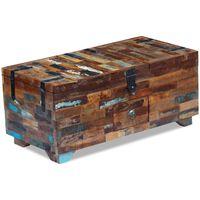 vidaXL Sohvapöytä kierrätetty massiivipuu 80x40x35 cm