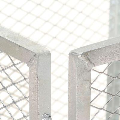 vidaXL Puutarhakomposti 85x85x70 cm galvanoitu rauta