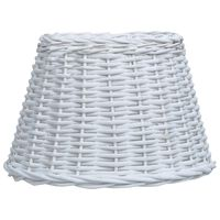 vidaXL Lampunvarjostin paju 40x26 cm valkoinen