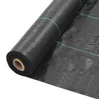 vidaXL Rikkaruohojen ja juurien kontrollointimatto PP 1x25 m musta