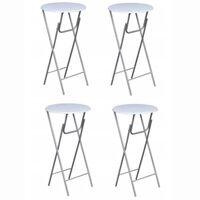 vidaXL Baaripöydät 4 kpl MDF-pöytälevy Valkoinen