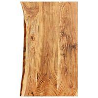 vidaXL Kylpyhuoneen peilipöydän levy täysi akaasiapuu 100x55x3,8 cm