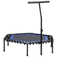 vidaXL Fitness trampoliini kahvalla 122 cm