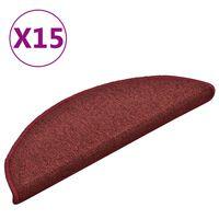 vidaXL Porrasmatot 15 kpl punainen 56x17x3 cm
