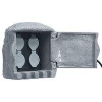 vidaXL Puutarhan pistorasiayksikkö 4 aukkoa kauko-ohjaus hartsi harmaa