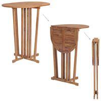 vidaXL Kokoontaitettava baaripöytä 100x65x105 cm tiikki
