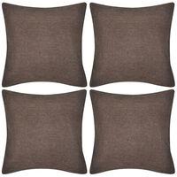 Antrasiitti Tyynynpäällinen Pellavatyylinen 4kpl 50 x 50 cm