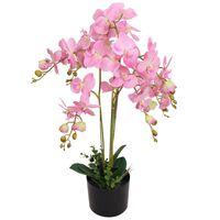 vidaXL Tekokukka ruukulla orkidea 75 cm vaaleanpunainen